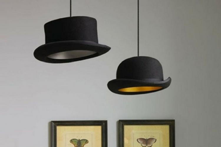 Абажур из шляпы - Плафон для люстры своими руками