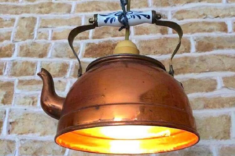 Плафон-чайник своими руками