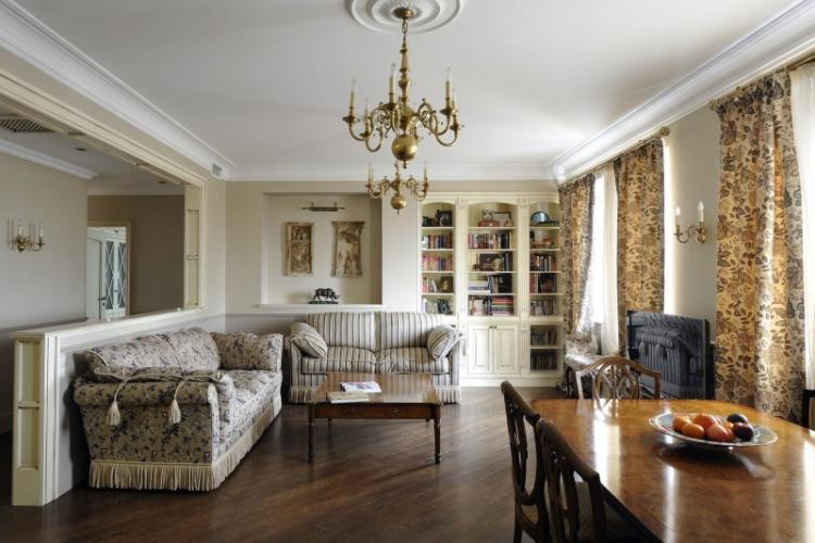 Гостиная в английском стиле - Дизайн интерьера фото