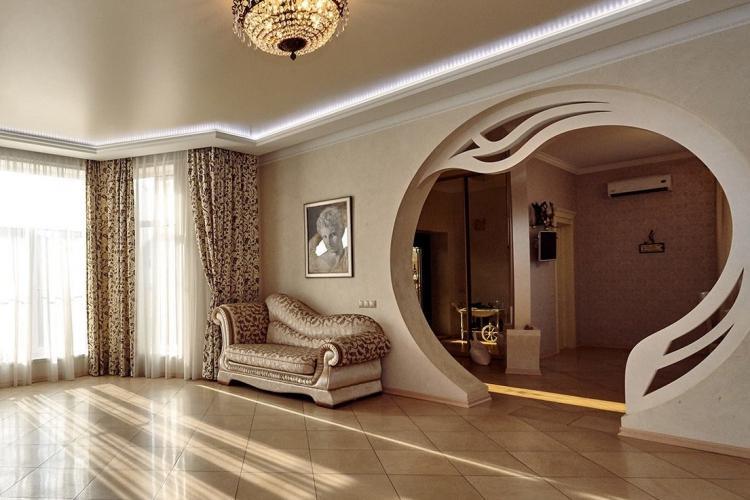 Фигурные арки из гипсокартона