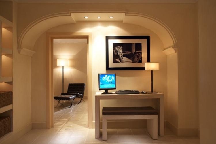 Декоративная подсветка - Отделка арки из гипсокартона
