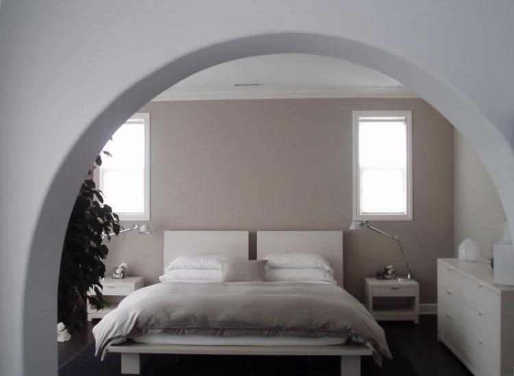 Арки из гипсокартона в спальне