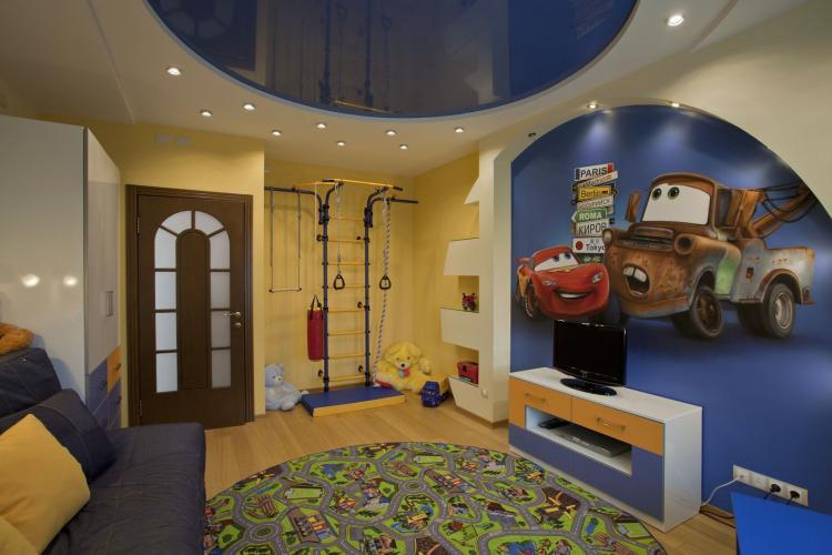 Арки из гипсокартона в детской комнате