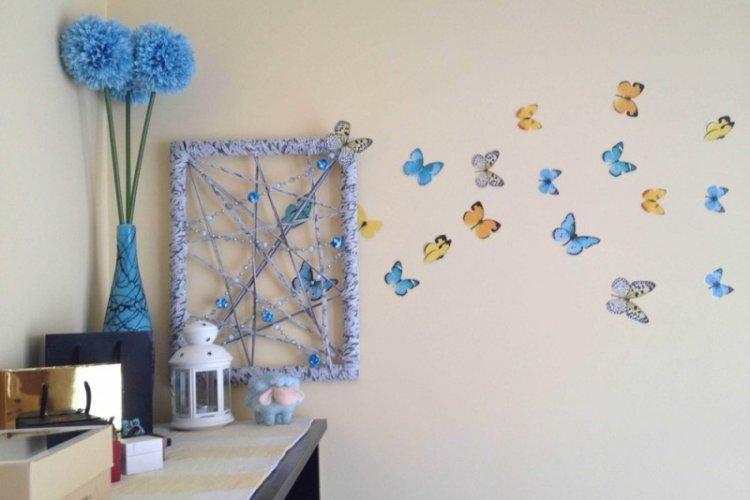Бабочки-наклейки на стену своими руками