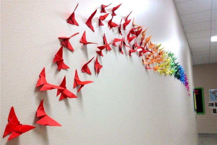 Бабочки из бумаги - Бабочки на стену своими руками