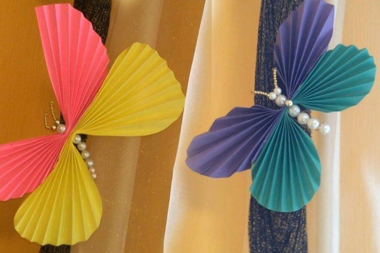 Бабочки из гофрированной бумаги - Бабочки на стену своими руками