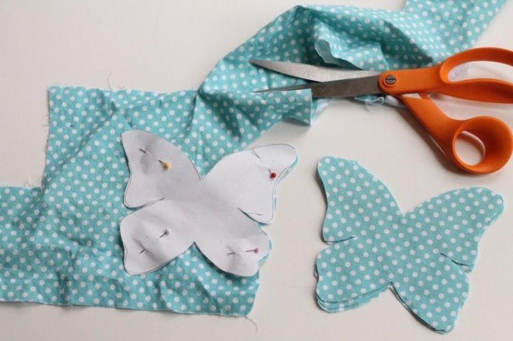 Бабочки из ткани - Бабочки на стену своими руками