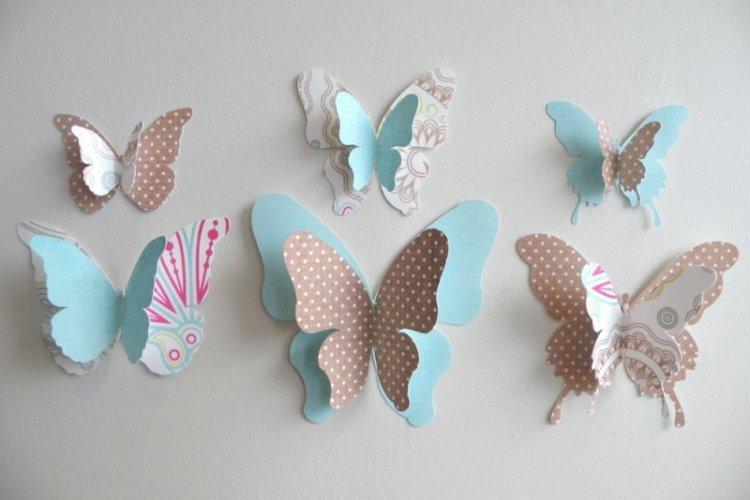 Объемные многослойные бабочки на стену своими руками