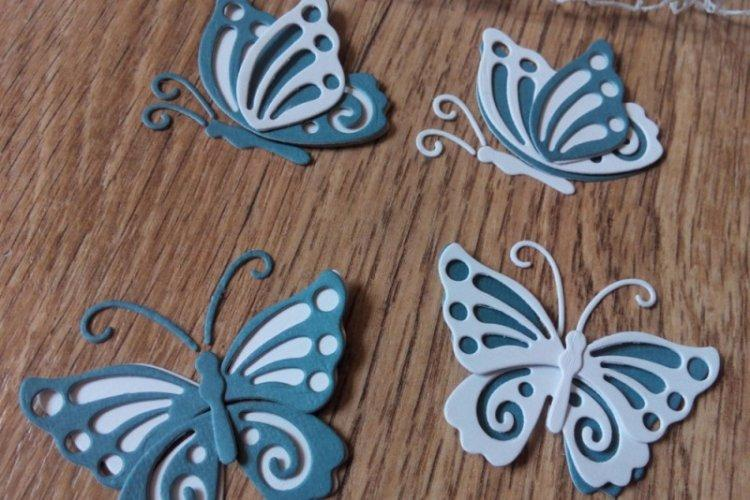 Ажурные бабочки на подложке - Бабочки на стену своими руками