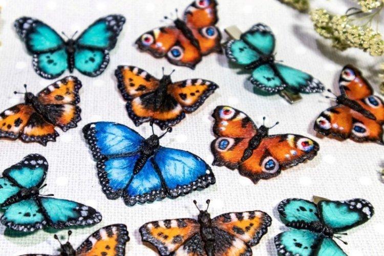 Бабочки из полимерной глины - Бабочки на стену своими руками