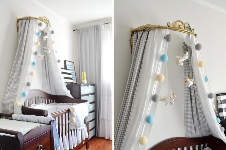 Дугообразный балдахин на детскую кроватку своими руками