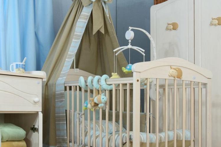Балдахин на детскую кроватку - идеи дизайна фото