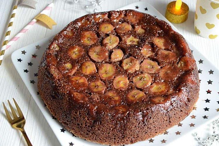 Пирог с бананами в карамели в духовке - рецепты