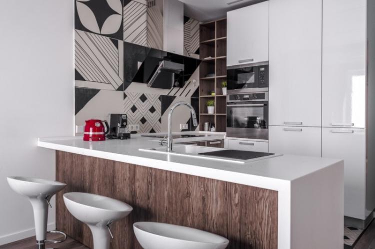 Встроенная барная стойка - Виды барных стоек для кухни