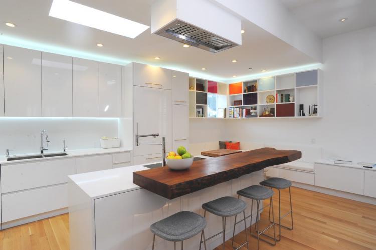 Многоуровневая барная стойка - Виды барных стоек для кухни
