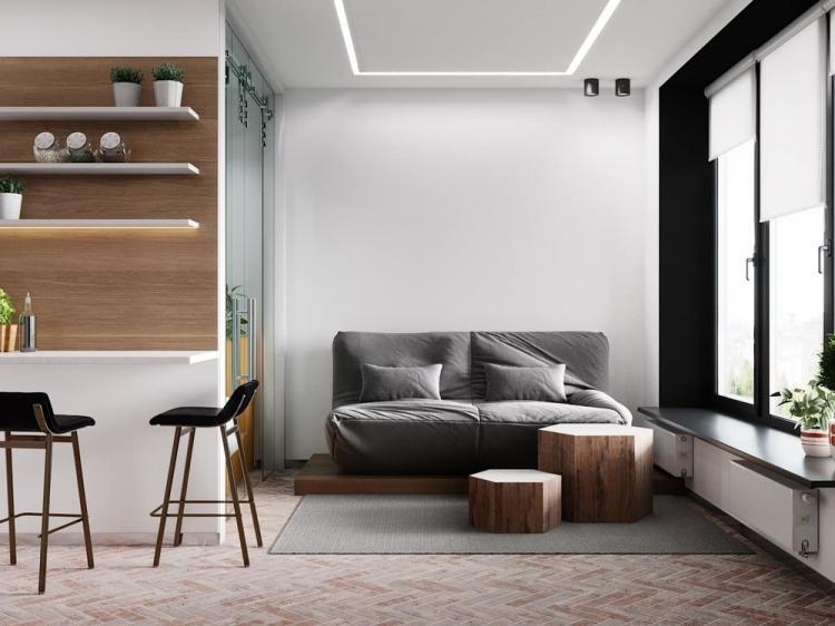 BigSmall: Квартира-студия 27 м2