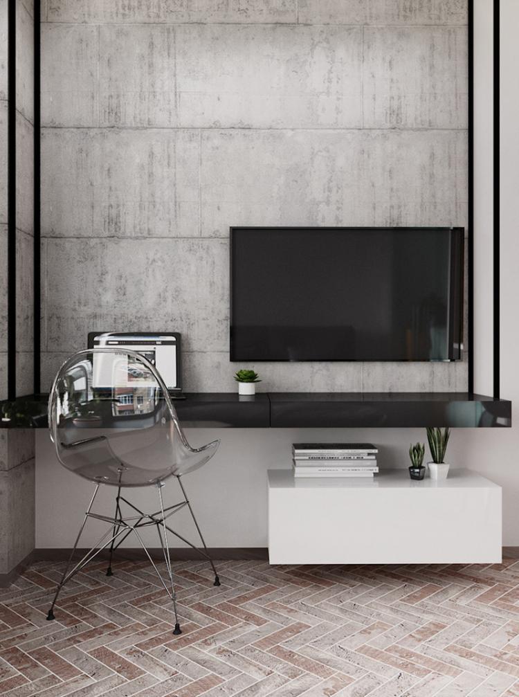 BigSmall: Квартира-студия 27 м2 - дизайн интерьера