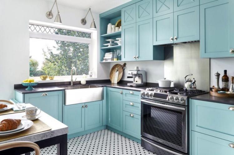 Особенности - Дизайн бирюзовой кухни