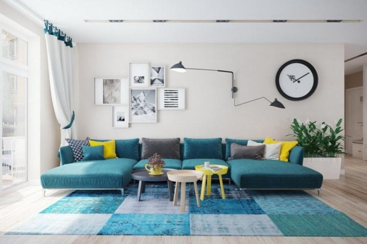 Бирюзовый цвет в интерьере: 100 фото и идей дизайна