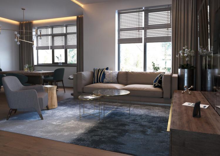 Black Style Home: Интерьер кухни-гостиной