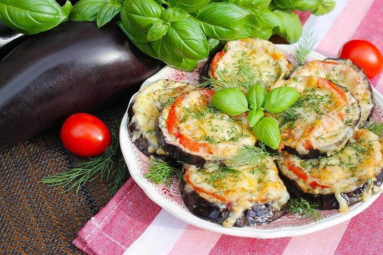 Запеченные баклажанные бутерброды - Блюда из баклажанов рецепты
