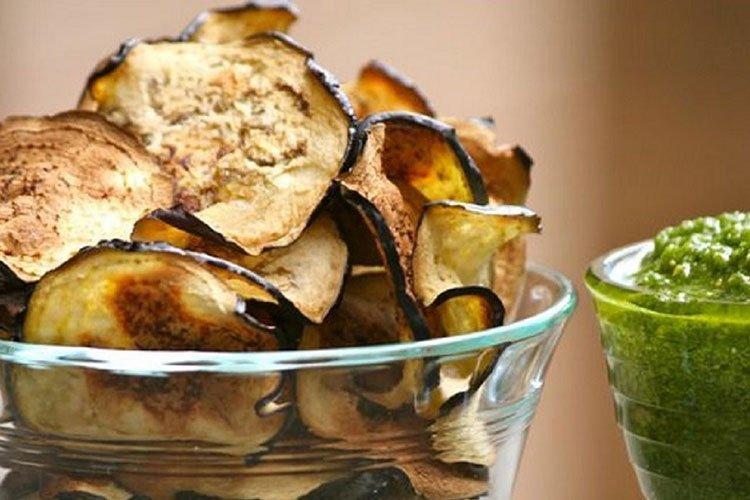 Чипсы из баклажанов - Блюда из баклажанов рецепты