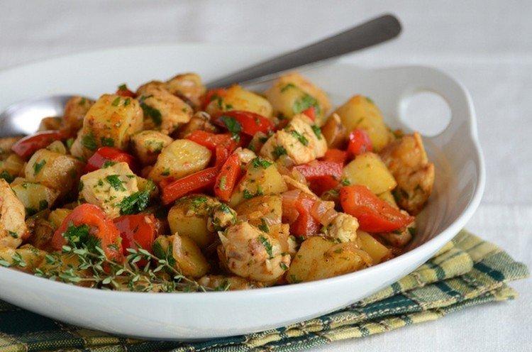 Тушеная индейка с картофелем - рецепты