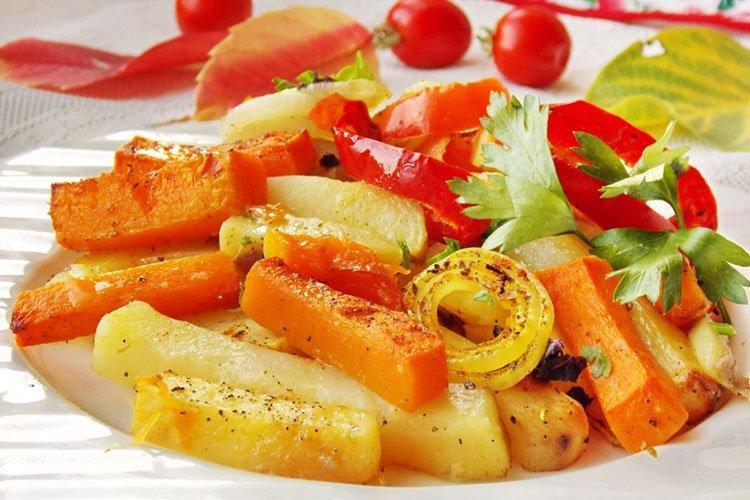 Тыква, запеченная с картофелем - рецепты