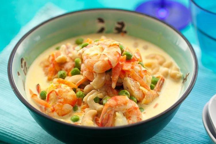 Креветки в соусе из кокосового молока - рецепты