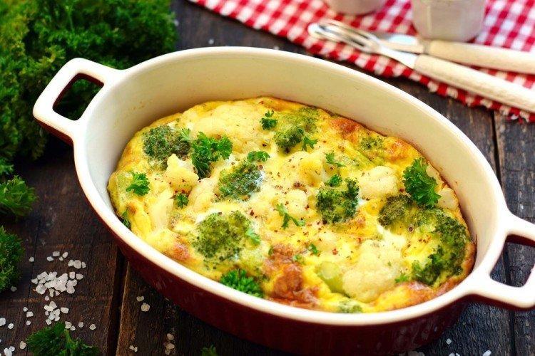 Запеченная брокколи в яйце - Блюда в духовке рецепты
