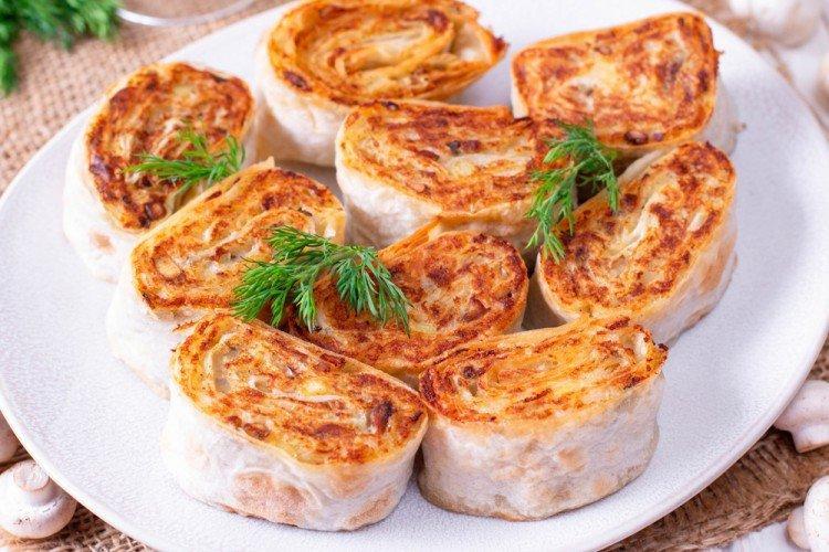 Рулеты из лаваша с картофелем - Блюда в духовке рецепты