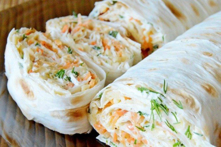 Лаваш с морковкой и плавленым сыром - Чем накормить гостей недорого, вкусно и быстро