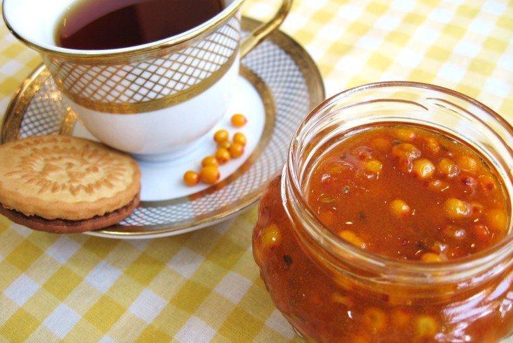 Сахарно-ягодное сырое варенье - Что приготовить из облепихи на зиму