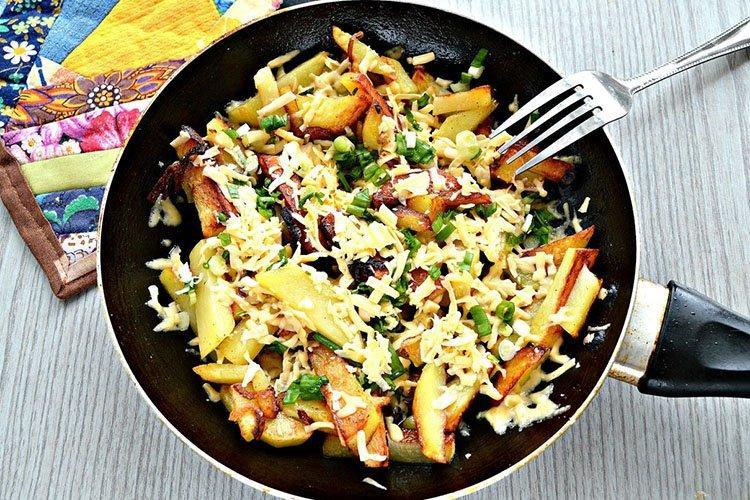 Жареная картошка с фаршем - Что приготовить из фарша и картошки рецепты