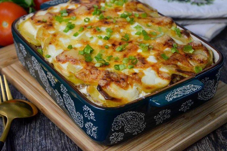 Картофельный пирог с фаршем - Что приготовить из фарша и картошки рецепты