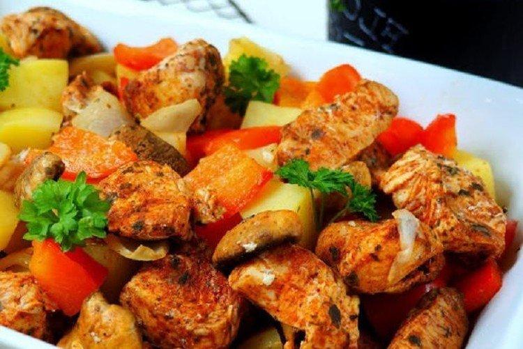 Филе индейки с овощами - Что приготовить из филе индейки рецепты