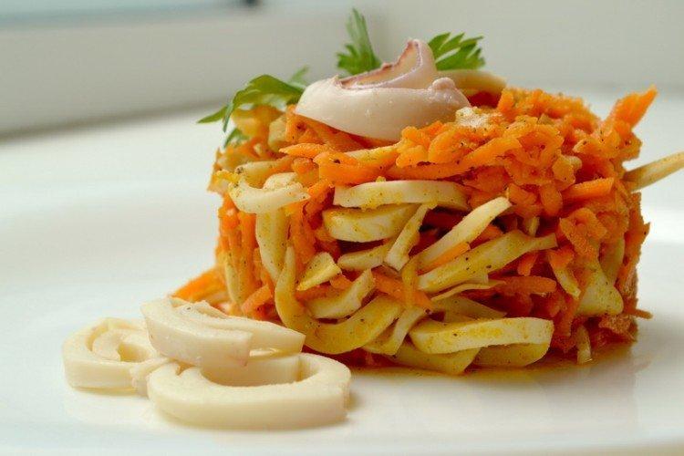 Тушеные кальмары - Что приготовить из кальмаров рецепты