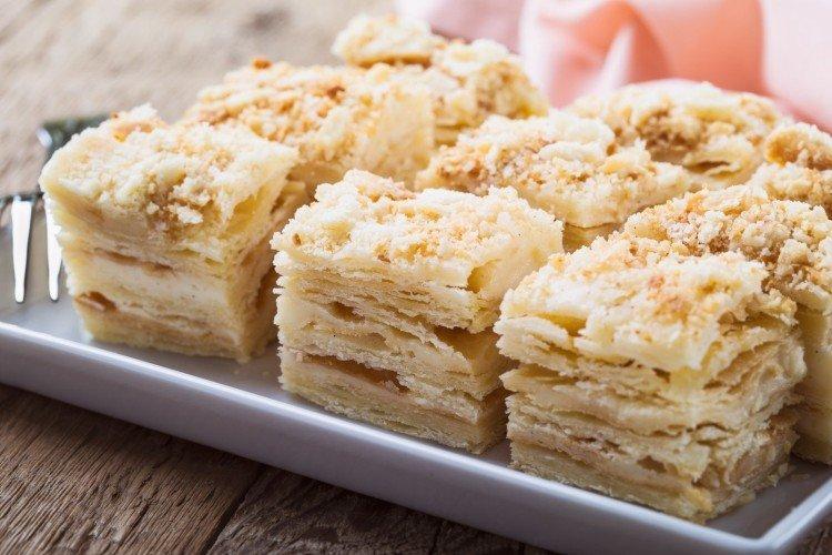Десертный тортик - Что приготовить из слоеного теста рецепты