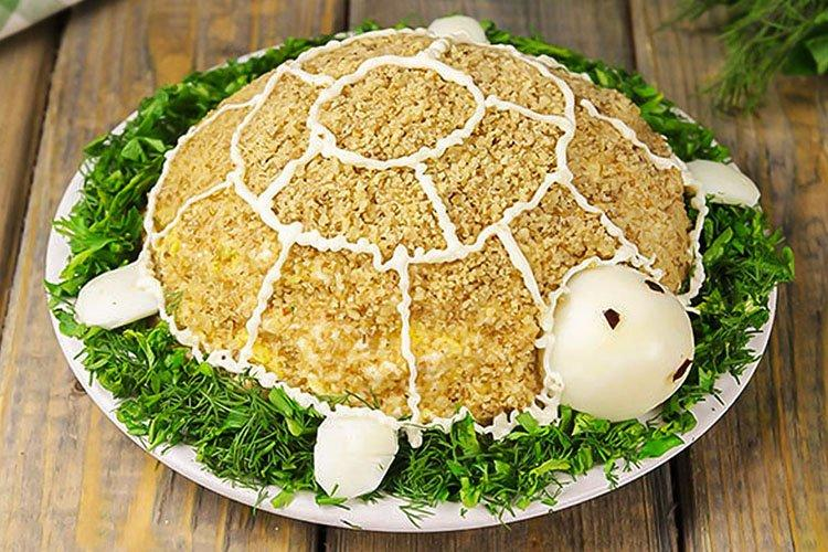 Салат Черепашка - Что приготовить на День рождения рецепты