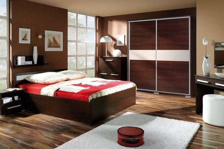 Цвет венге в спальне - дизайн фото