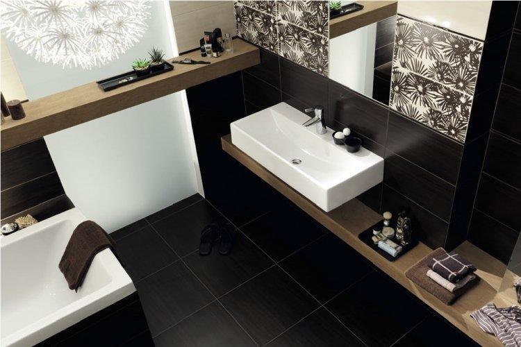 Цвет венге в ванной - дизайн фото