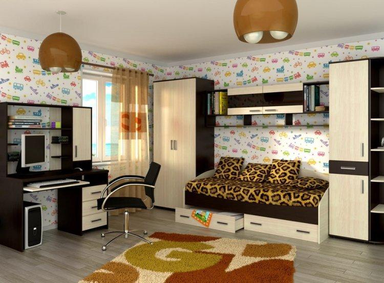 Цвет венге в детской комнате - дизайн фото