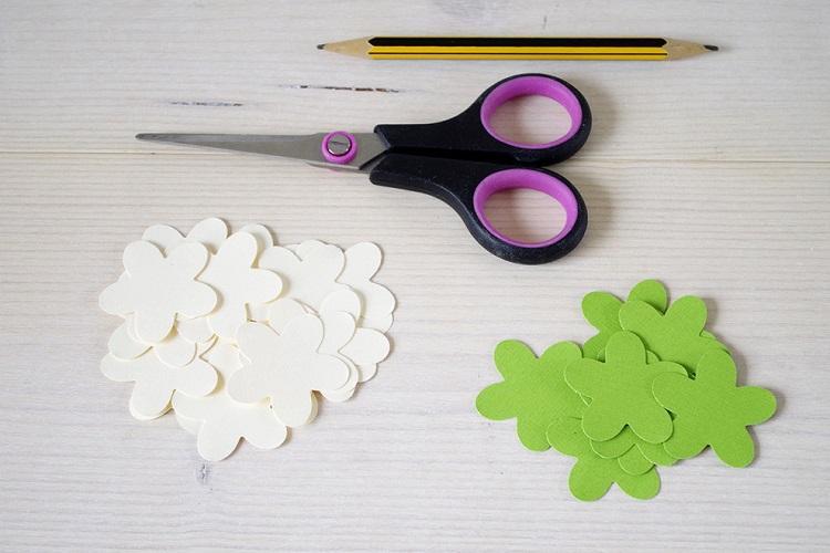 Букет белых цветов - Цветы из бумаги своими руками
