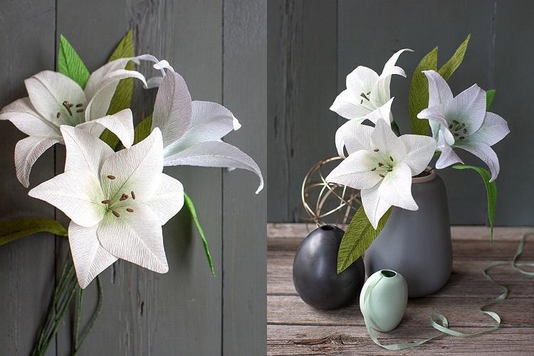 Лилии из бумаги - Цветы из бумаги своими руками