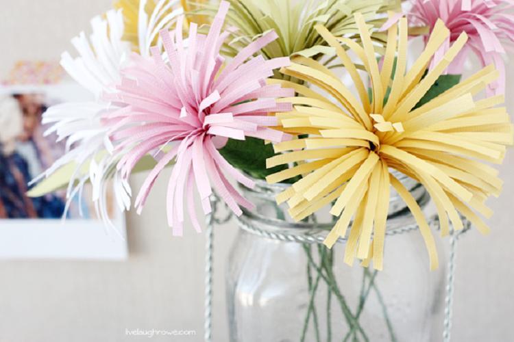 Бумажные хризантемы - Цветы из бумаги своими руками