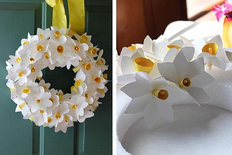 Нарциссы - Цветы из бумаги своими руками