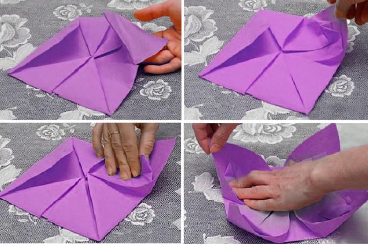 Лотос - Цветы из салфеток своими руками