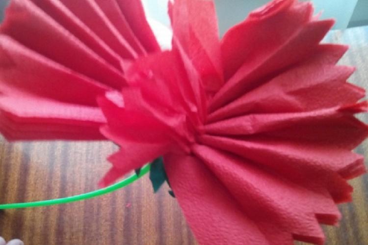 Гвоздика - Цветы из салфеток своими руками