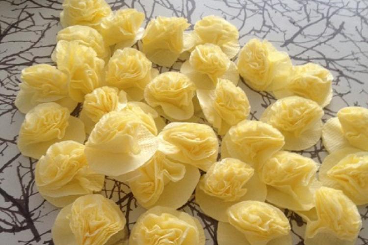 Одуванчик - Цветы из салфеток своими руками
