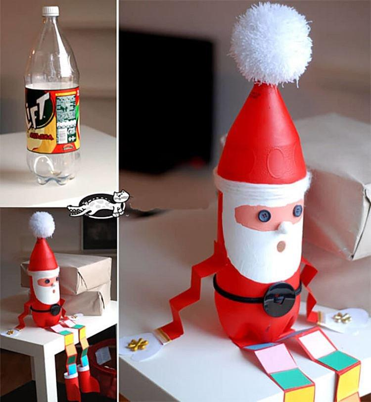 Дед Мороз из пластиковой бутылки своими руками в детский сад и школу